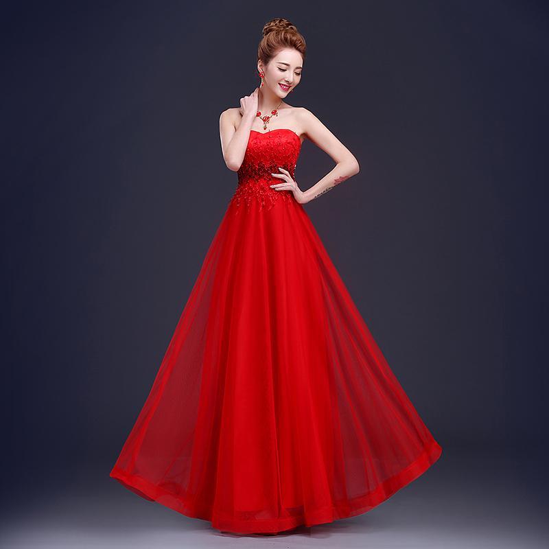 Vestido de dama de honor larga de tul de encaje con perlas 2016 Sweetheart DAMA DE DUDOS DAMA FORMAL LEACTOS ENTREGO ENVÍO RÁPIDO