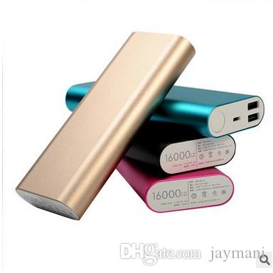 100% Original Mi Xiaomi 16000 mah Power Bank 16000mAh Powerbank Dual USB Portable Charger Silver External Battery Pack Mobile