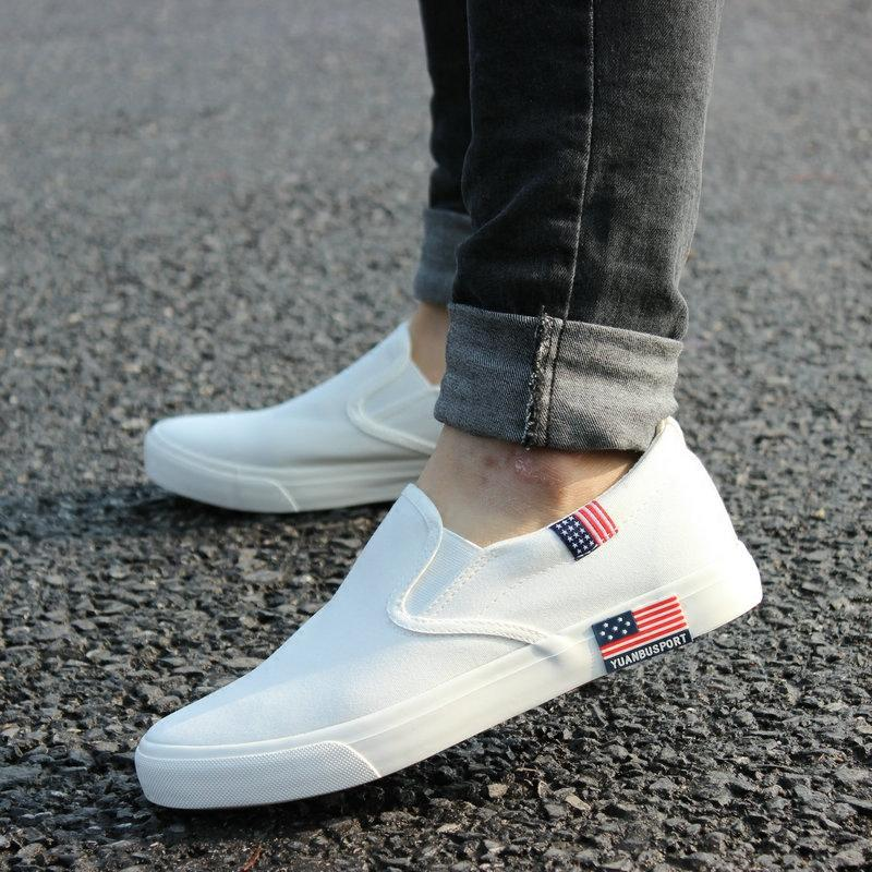 spring new boy pure white canvas shoes shoes han edition of the