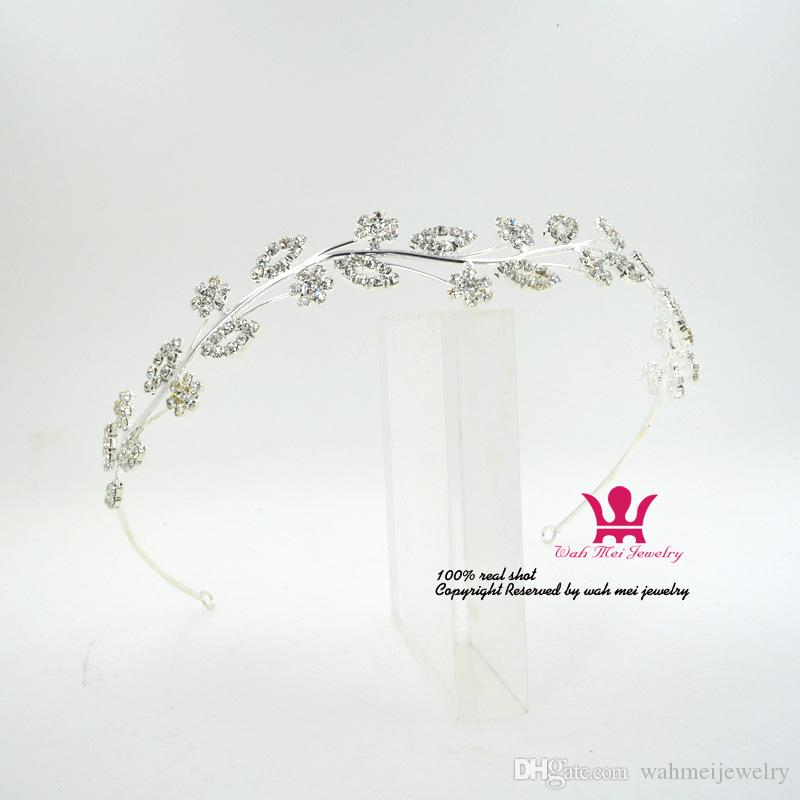 Diadema de diamantes de imitación Accesorios para el cabello Boda nupcial Tiaras Coronas Garland Princesa Flor Chicas Bonitas Grecia Fiesta Performance Show 01509