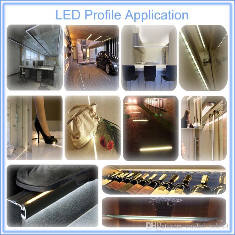 90 profilo LED in alluminio ad angolo retto e canale profilato tipo V striscia led 3528 o 5050 illuminazione armadio da cucina 10X0,5 M