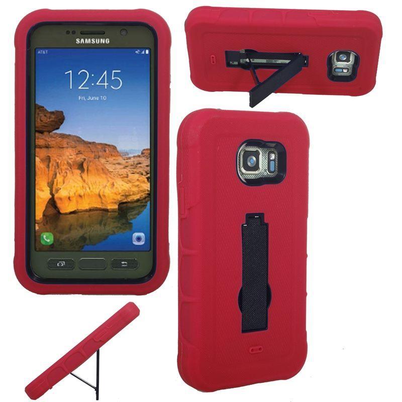 Kickstand ile 2016 Sıcak Satış Ağır Sağlam Hibrid Cep Telefonu Kılıfı TPU + PC Samsung G891 Için
