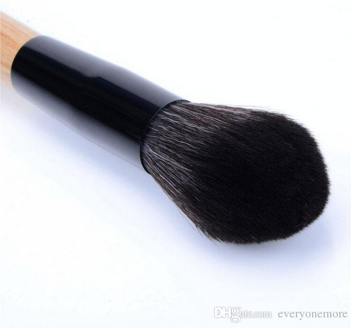 Soft flame style Blush brushes Face blending brush Wood make up brush foundation BB cream brush for women