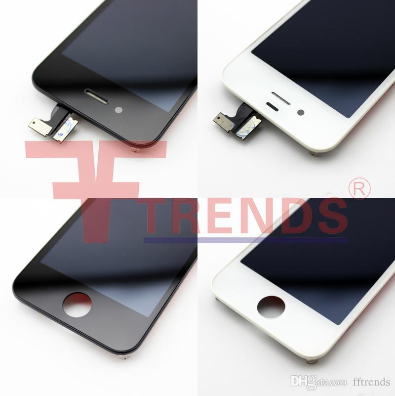 for iPhone 4 4S LCD Display & Touch Screen Digitizer Full Assembly Replacement Parts Low Price Black White