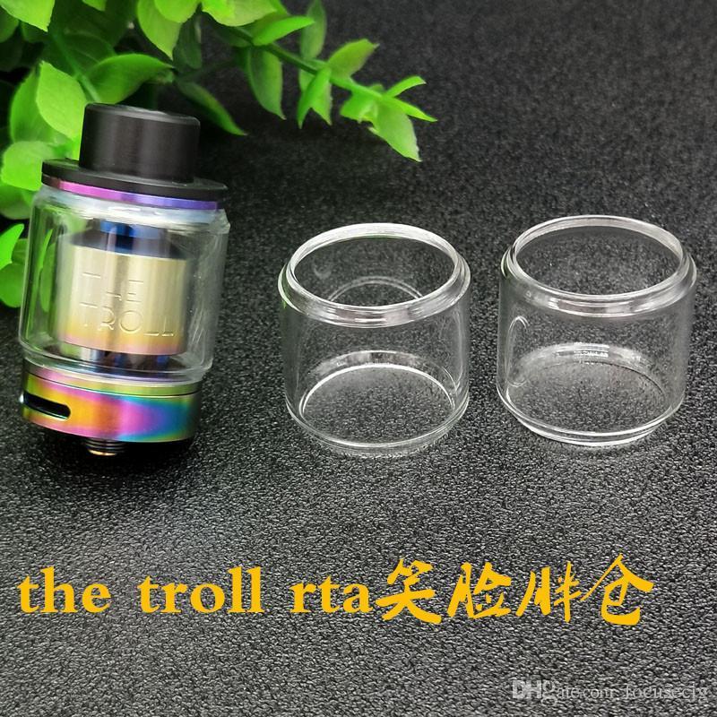 Novo o troll 5 ML de Vidro Tubo de Vidro de Substituição Para Wotofo O Tubo de Vidro Transparente ATROTA RTA TROLL