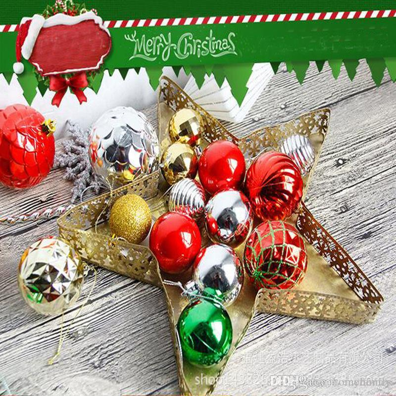 2017 Christmas Tree Xmas Balls Star Decorations Baubles Party
