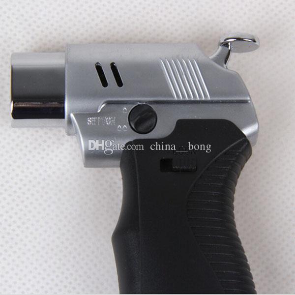 라이터 담배 용접 토치 라이터 듀얼 플레임 브레이징 납땜 조절 불꽃 부탄 가스 제트 무료 배송