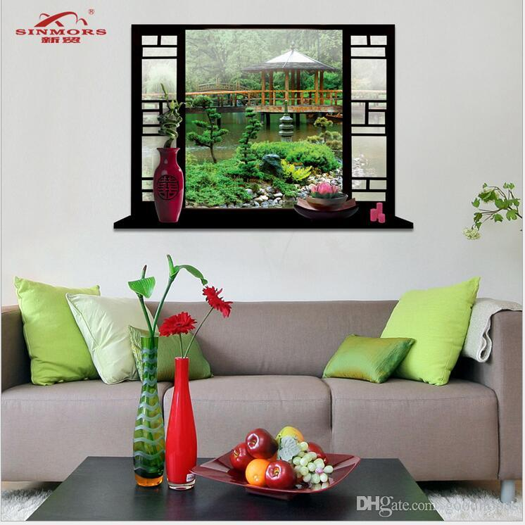 extra large landscape 3d scenery wall stickers home decor living