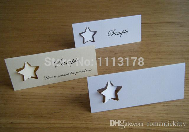 Stars Name Place Cards Table Setting Wedding Place Cards, Escort ...