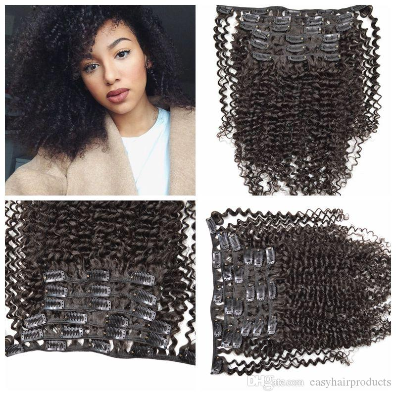 Hot sale !7pcs Easy Clip in Hair Extension Natural black Long Curly/Wavy hair 120g 12-26inch G-EASY