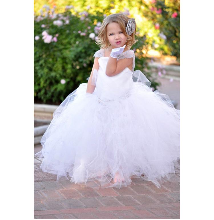 Kids Wedding Dresses: Kids Bridesmaid Dresses Elegant Formal Pageant Flower