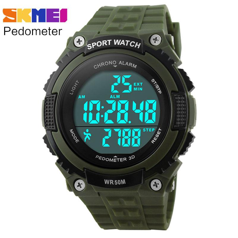 buy men wrist boy army cheap clock led product running band waterproof women brand sport skmei watch watches rubber black pedometer digital green