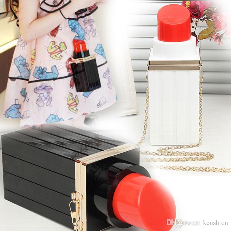 2016 Fashion Luxury Women Handbag Acrylic Shoulder Messenger Bag Mini Lipstick Perfume Bottle Clutch Purse Evening Bag - A017