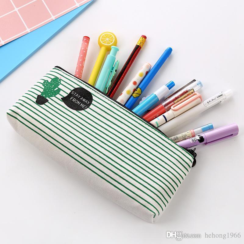 Originalità Sacchetti matite Cacti Stampa Zipper Canvas Stationery Case Pupil Classroom Articoli essenziali regalo studenti 2 9bw C R