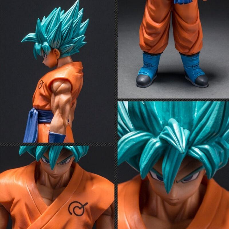Dragon Ball Z Super Saiyan God Son Goku Action Figure Blue Hair Goku 26CM Dragon Ball PVC Collection Model Toy Doll