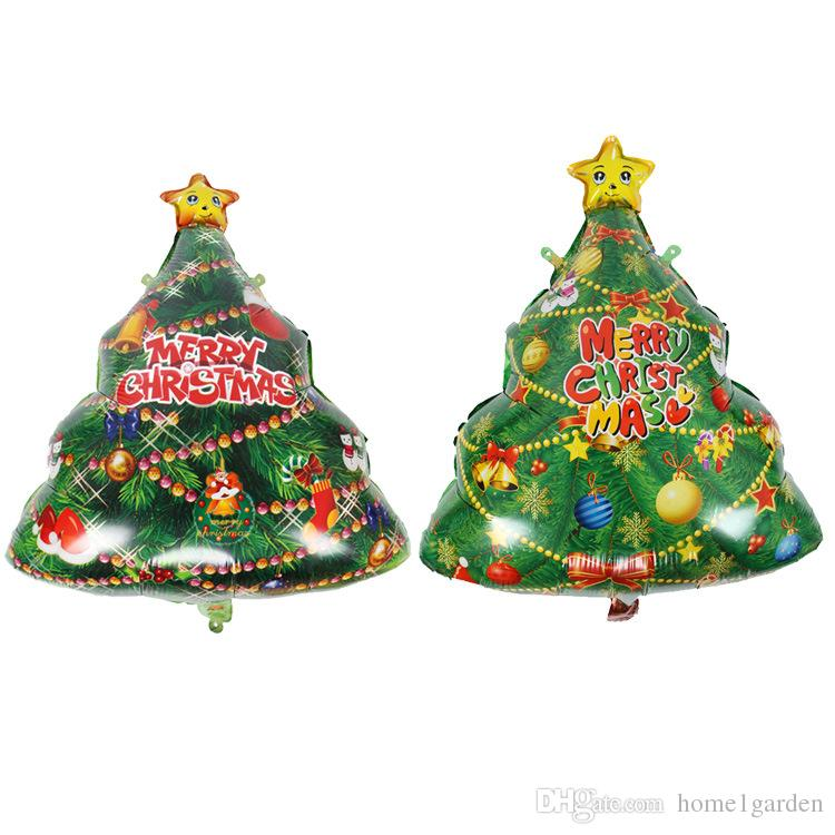 Christmas Tree Shape Aluminum Foil Balloons Children's Holiday Toy Decoration Christmas Party Balloon 56*74cm