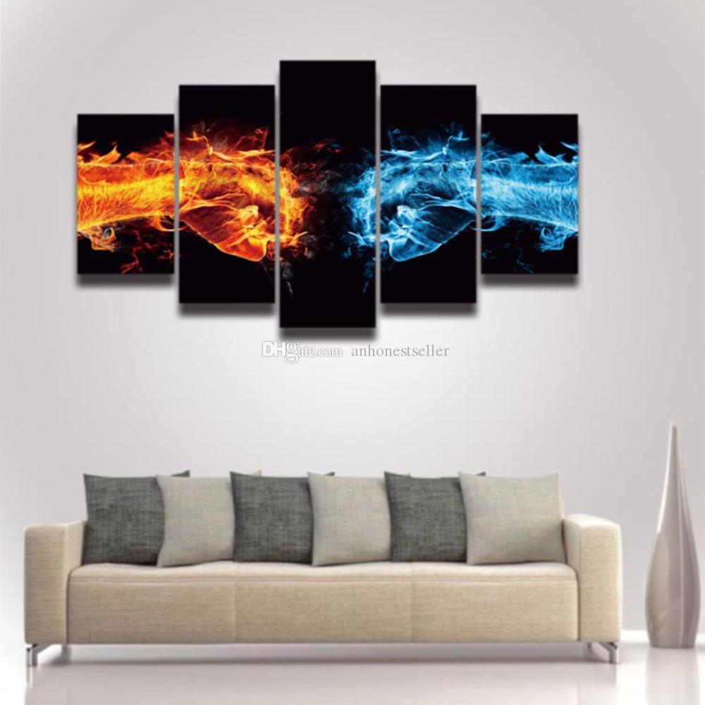 2018 canvas prints art cool fist picture artistic painting for wall