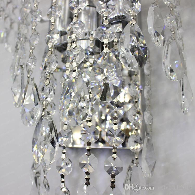 K9 Crystal Wall Sconces Modern Luxury LED Gold/Silver Wall Lamp Indoor Lighting Lamp Aisle Bedside Corridor Light Fitting LLFA11