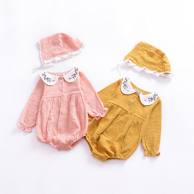 a08d665d1 2019 Lovely Kids Clothing Baby Girl Rompers Newborn Toddler Infant ...