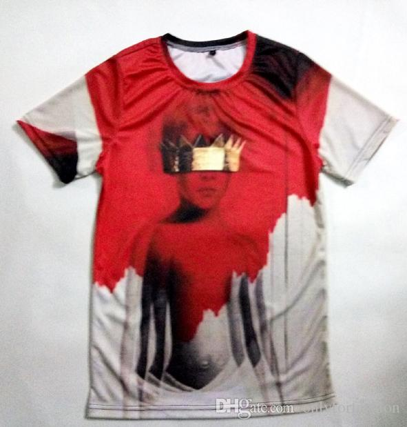 80a31e95e Real USA Size Custom Made Rihanna ANTI Fashion 3D Sublimation Print T-shirt  3D T-Shirt Plus Size 3d Print Online with $26.05/Piece on Onlyforfashion's  Store ...