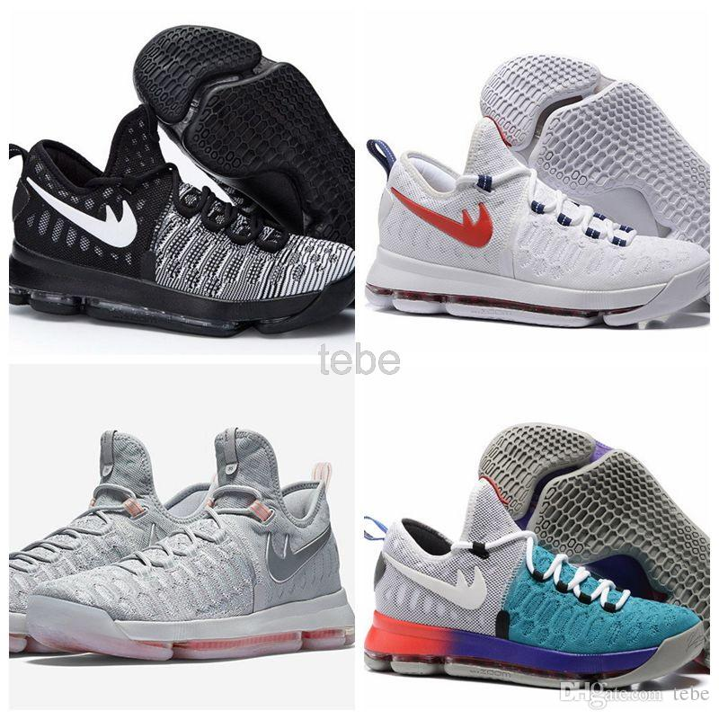 low priced d08c3 5156c 2016 Newest Arrival Kevin Durant KD9 IX USA Pre Heat Cool Grey Men  Basketball Kd 9 Oreo Zero Elite Sports Shoes Mens Kds Sneakers Size 40 46  Cheap ...