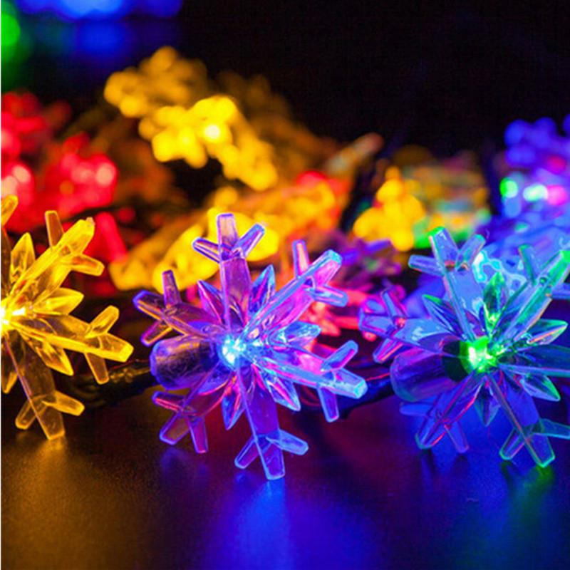 Wholesale 48m 20leds colorful solar string light snowflake wholesale 48m 20leds colorful solar string light snowflake christmas led fairy light outdoor wedding garden party holiday decor lighting red string lights aloadofball Gallery