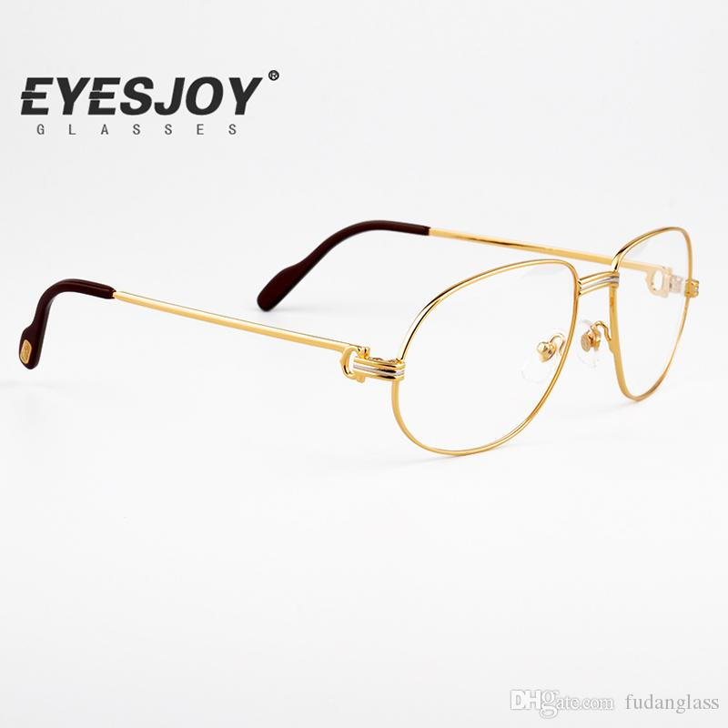 Luxury Men Eyeglasses 18k Fashion Metal Frames Brand Designer Mens ...