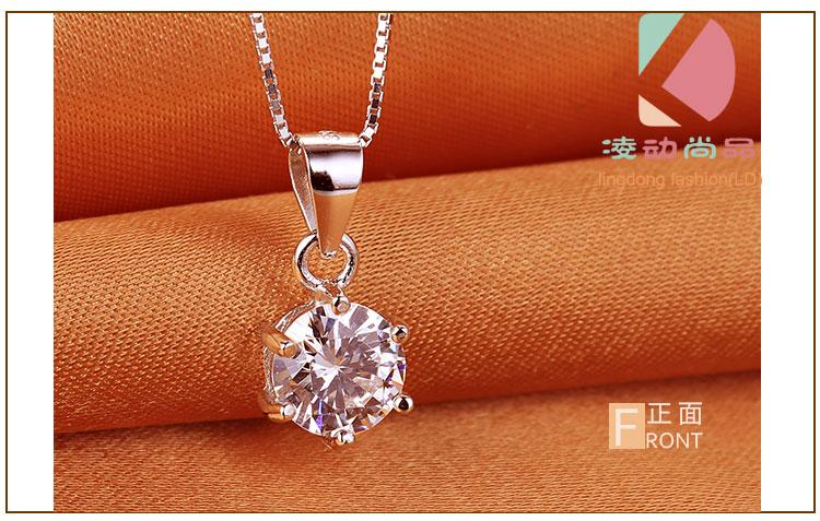 lingdong fashion Beautiful lighthouse pendant 2016 new 925 Sterling Silver Chain Necklace Jewelry box gift for Valentine's Day