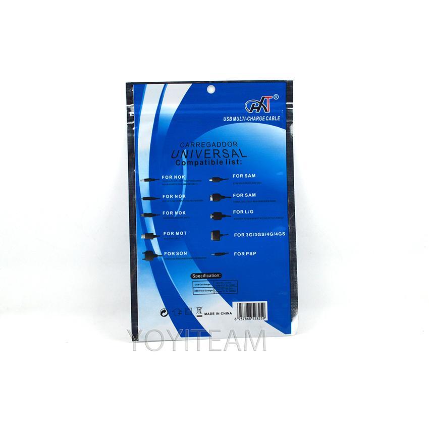 10 in 1 Kabel Paket bunte opp Tasche für Multi-Charge-Kabel Universal-Kabel opp Tasche mit schönen Foto und gute Qualität in günstigen Preis