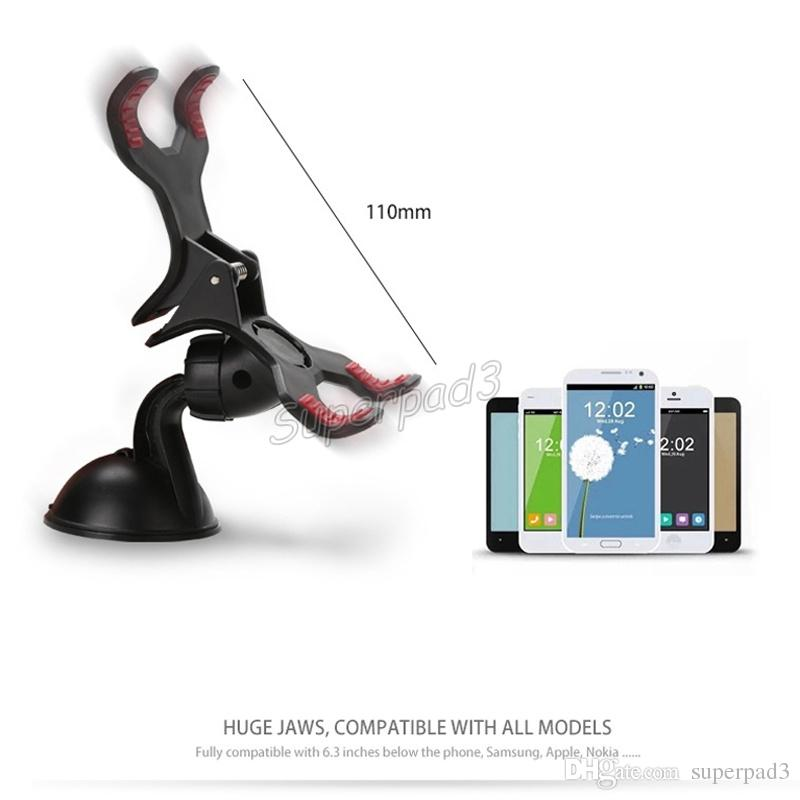 Universal Windshield Glass Car Mount Bracket Holder for iPhone 6 5 5S Sumsang Smart Phone PDS GPS Camera Recoder with Retail Package
