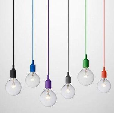 Rétro Silicone E27 Suspension Socket Plafonnier Ampoule Art Coloré Silice Titulaire Gel Luminaire De Suspendu Decor Base Moderne gY6b7fy