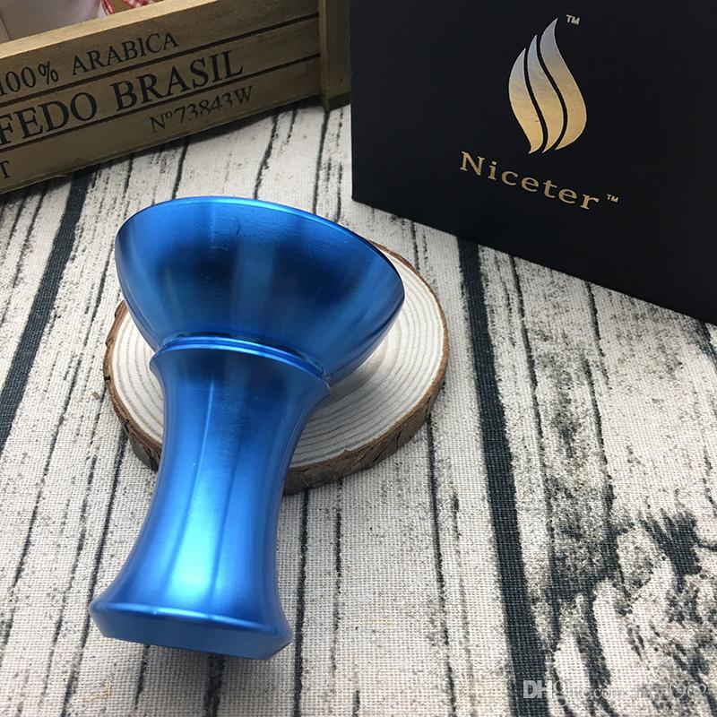 Hot Resistenza dei colori alla elevata metallo Hookah Bowl di alta qualità fumatori Stufa Accessori Carbonio calore Keeper Shisha Bowl