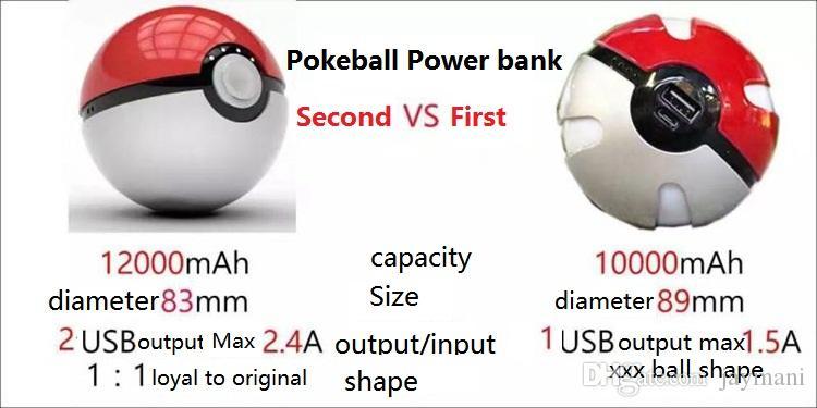 Pokeball Power Bank 12000mah Adorable Cartoon Magic Baby Creativity Portable Source Power Bank For IOS Android Smartphone