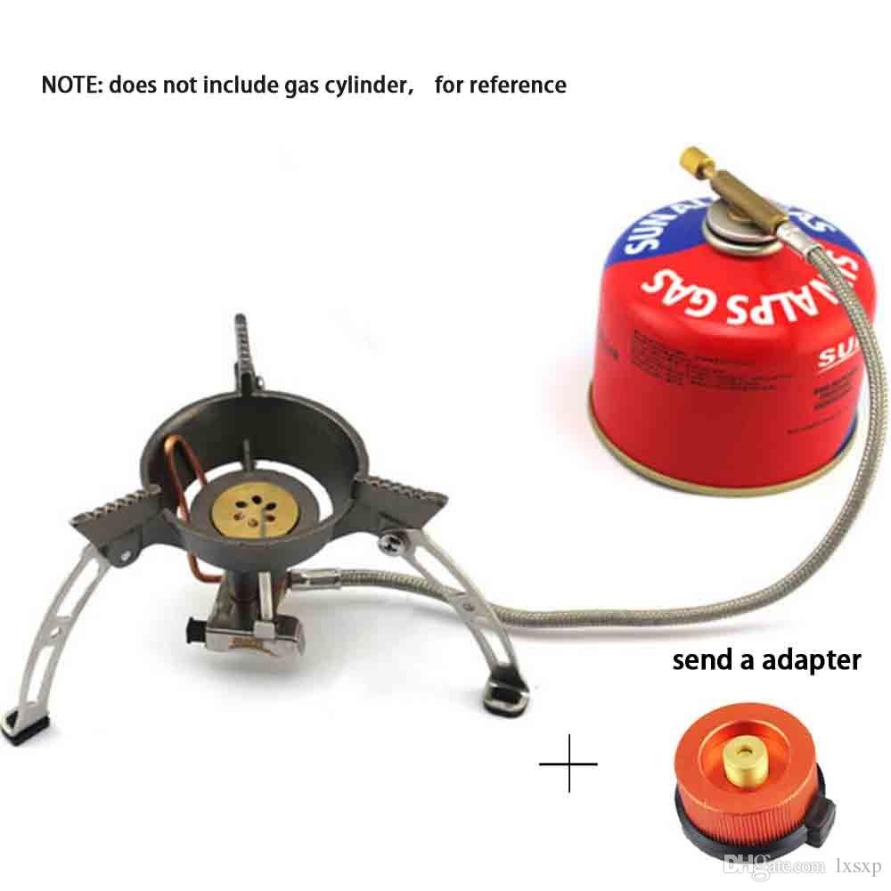 Windproof Raging Fire Gas Stove Mini Camping Support Frame Butane ...