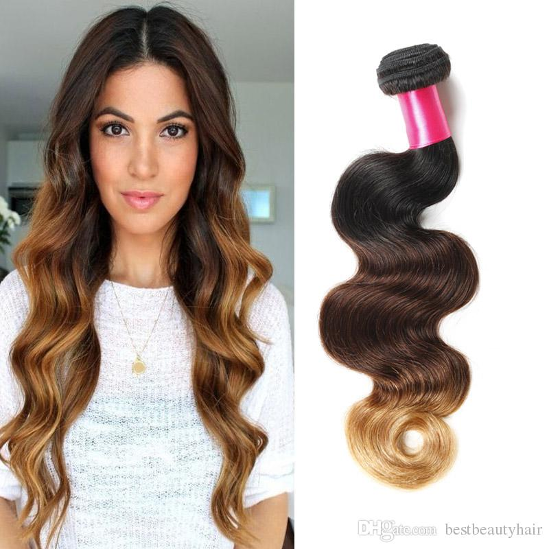 Cheap good quality 3 tone ombre weaves body wave brazilian hair 1b cheap good quality 3 tone ombre weaves body wave brazilian hair 1b427 ombre human hair extensions 100gpcs 100 unprocessed brazilian ombre hair human pmusecretfo Image collections
