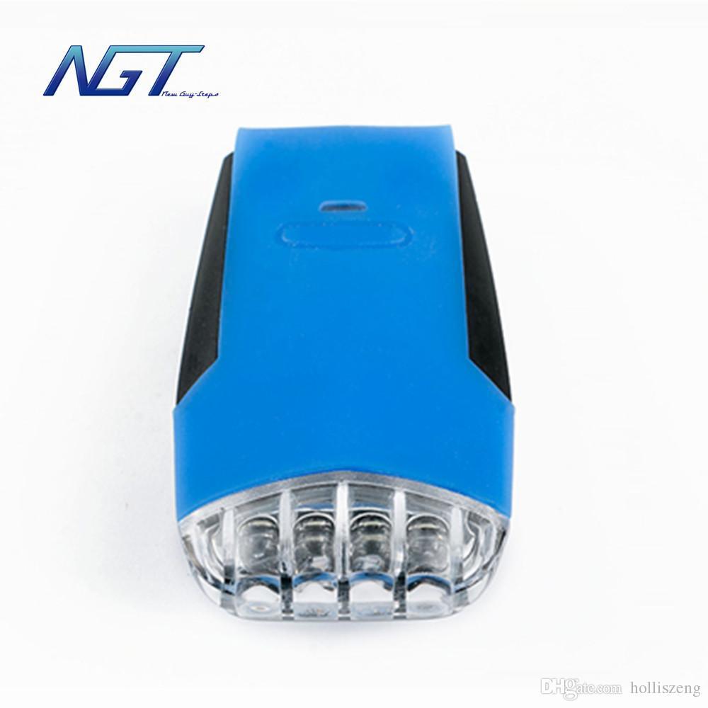 1 article Top qualité NGT nouvelle lumière 4 LED lumière vélo et feux de bicyclette lampe de sécurité lumière lampe de poche
