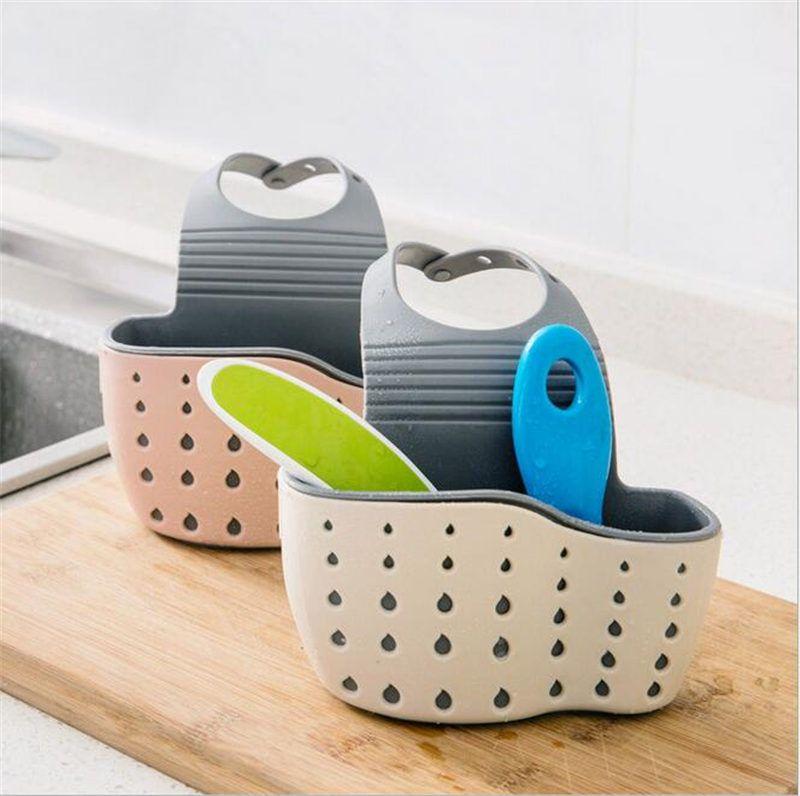 Cuisine Portable Hanging Drain Bag Drain Plateau Panier De Bain De Stockage Panier Gadget Panier De Stockage De Bain Outils Porte Evier Drain Panier Suspendu