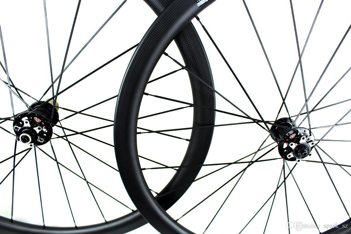 Ruedas de frenos de disco de bicicleta de carretera de fibra de carbono 38 mm ruedas de bicicleta tubulares remachador 700c 3K borde de llanta mate 25 mm XC ciclocross M5 QR