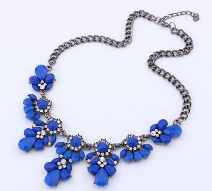 جديد بيان المختنق الأزياء سحر كريستال جوهرة مكعب الزركون الماس طوق NecklacesPendants المرأة الجميلة مجوهرات dhl شحن مجاني