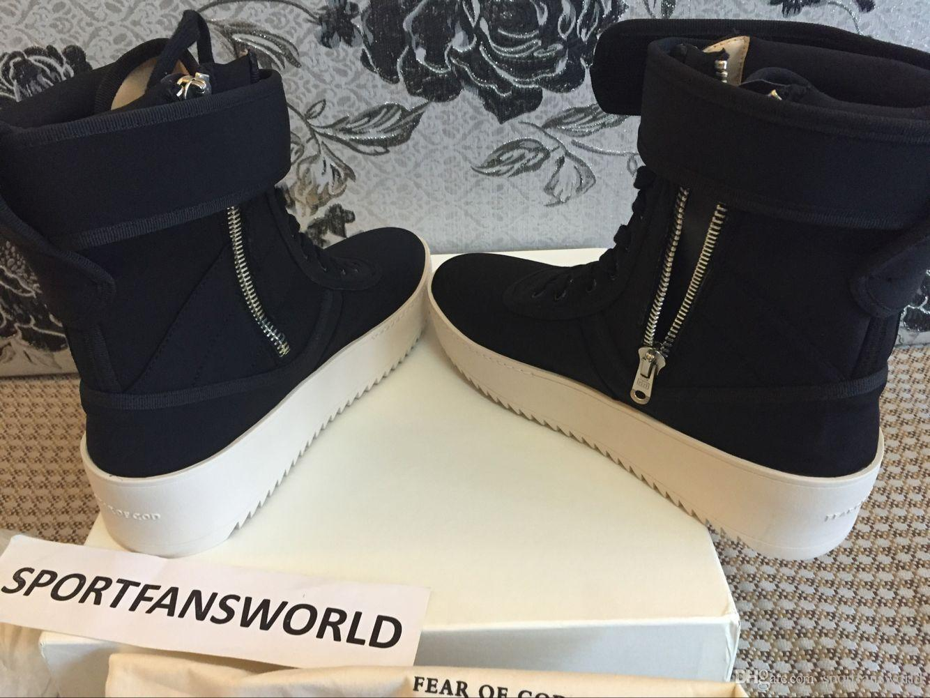 f451649f39ba 2019 Without BOX FEAR OF GOD Military Sneaker Boot JERRY LORENZO ...