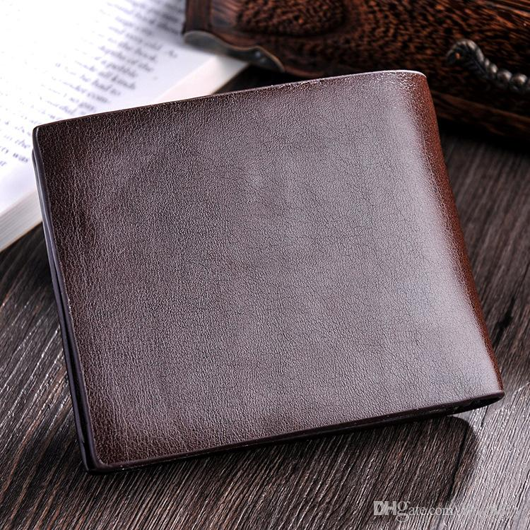 Wholesale Cheap Good Quality Money Clip Wallet Leather Vogue Contracted Money Wallets Presses The Letter Man Wallets