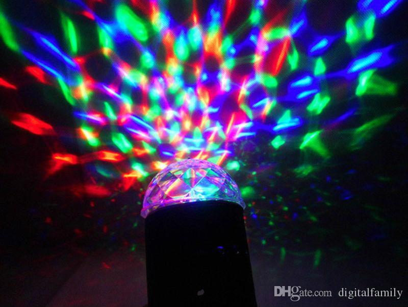 ديسكو ضوء ملون DMX DJ 3W LED السيارات شركات نقل أضواء رئيس ضوء المرحلة الدوارة RGB كريستال مساء