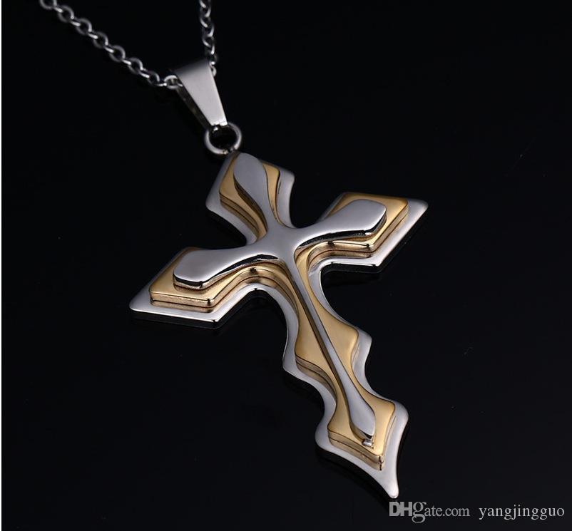 Mehrschichtige Halskette aus rostfreiem Edelstahl im europäischen und amerikanischen Stil für Anhänger mit Perlen zur kostenlosen Lieferung