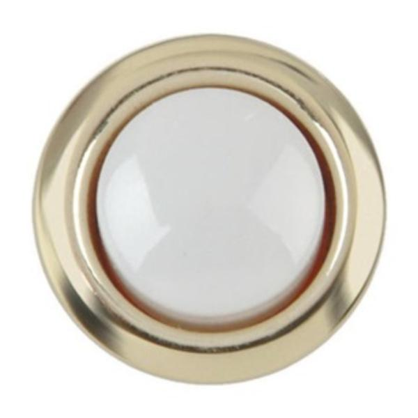 Doorbell Push Button Replacements, Doorbell Parts, Brass Bell Pushes, 16mm  8 24V Wired Lighted Doorbell Chimes Use Switch Brass Bell Pushes Waterproof  ...
