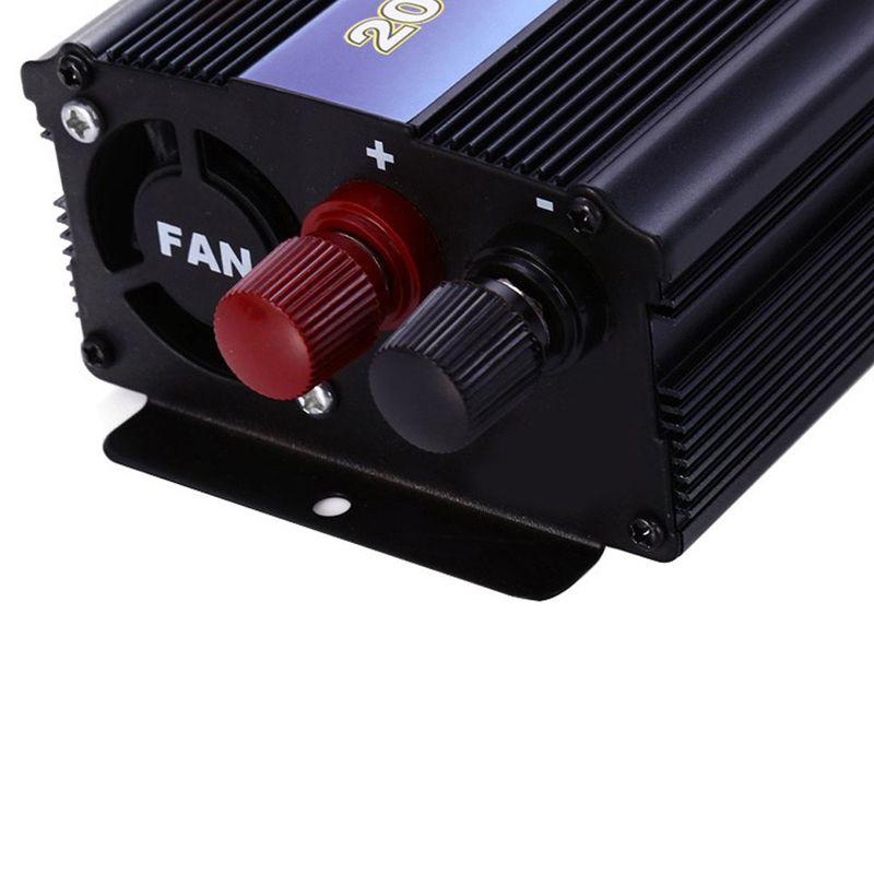 2000W Power Inverter Car Vehicle Voltage USB DC 12V/24V to AC 110V/220V Power Inverter Adapter Converter Car Travel Inverters