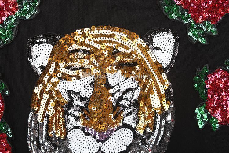Hot European Brand Tiger Head Hombres Bordados Sudaderas de Algodón Otoño Invierno Unisex Con Capucha Casual Streetwear Jogger Chándal