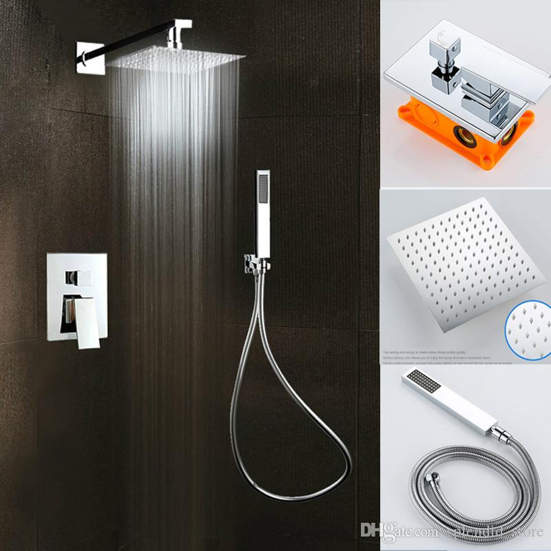 2017 Modern Bathroom Shower Kits Corner Rainfall Bath And Shower Set ...