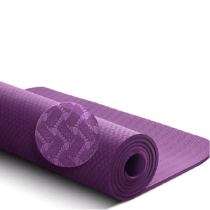 Compre Tpe Yoga Mat 6mm Para Principiantes Antideslizante Estera De Deporte  Antideslizante Colchoneta De Fitness Colchonete Gimnasio Estera Ejercicio  183 ... 0bb57d978df60