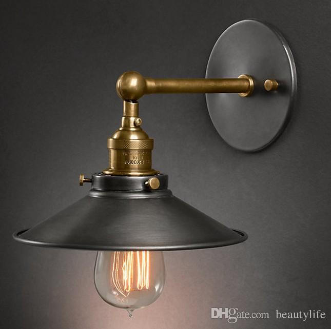 Lámpara de pared vintage americana luces de interior iluminación interior lámparas de pared para el diámetro del hogar 22 cm 110 V / 220 V E27