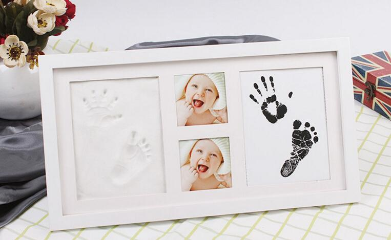 DHL 3D Keepsakes Baby Casting Kit Handprint Foot mud ink hand print mud sets of hands and feet infant personalized gift souvenirs Keepsakes
